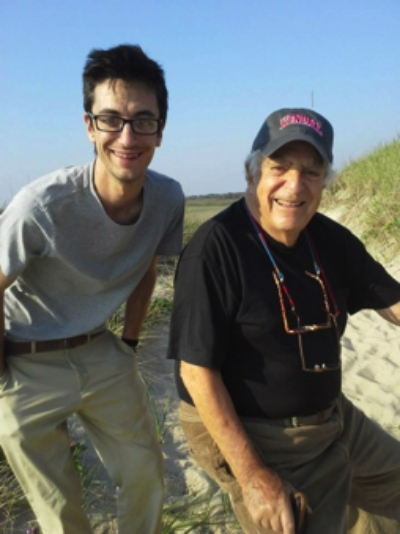 Chris Eitel (left) and Vladimir Kagan (right) on the island of Nantucket