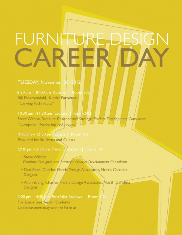 Furniture Design Vacancies furniture design career day 2012 | kendall college of art and