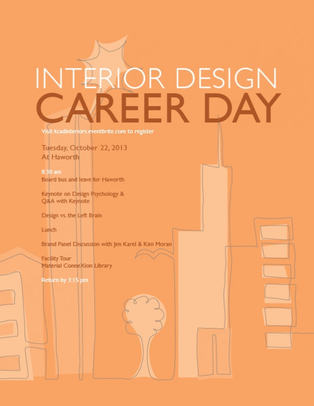 Interior design career day 2013 kendall college of art for Interior design career