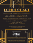 Bodies of Art 15th Anniversary Red Carpet Runway Event graphic with details.