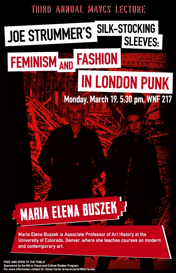 Pair of serious-looking punk feminists stand in front of industrial detritus