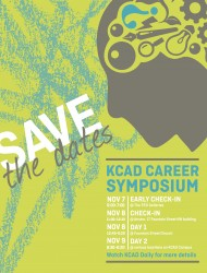 Save the date for November 8, check in for Career Symposium from 11am-12:30 in the Atrium