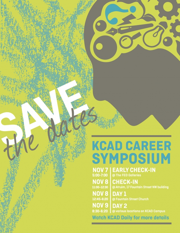 Save the date for November 9, day 2 of the KCAD Career Symposium.