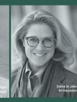 black and white photograph of faculty members Jason Alger, Donna St. John, and Mariel Versluis