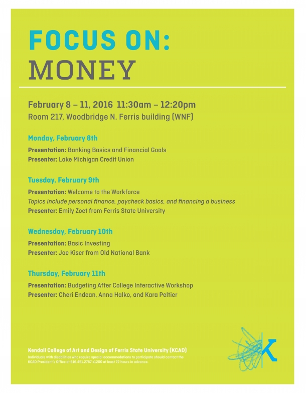 Focus On: Money - Banking and Financial Goals | Kendall College of
