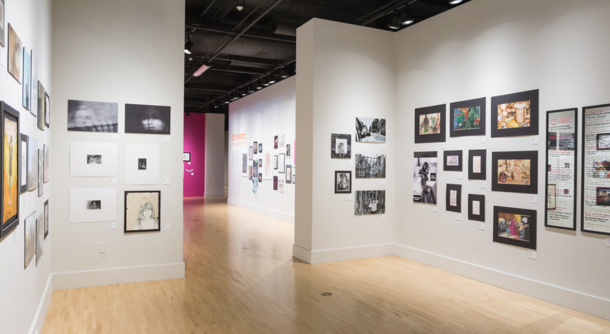 photo of the galleries with artwork from the 2019 Scholastic Art & Writing Awards Exhibition