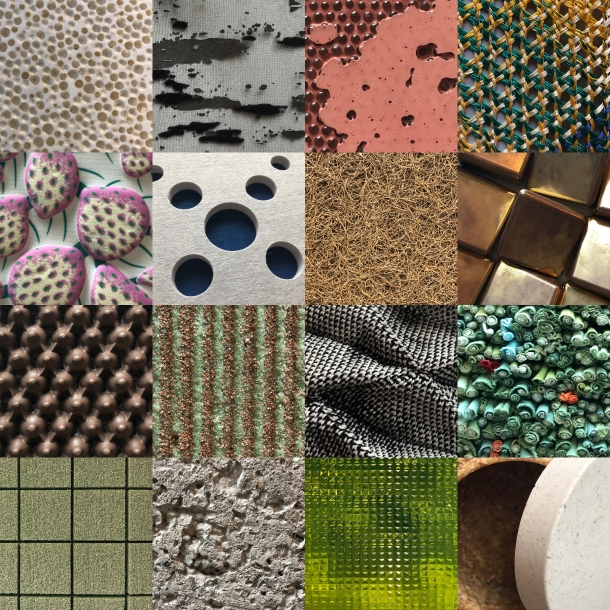 tiled images of a variety of material samples from Material ConneXion
