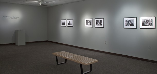 Gallery view of black and white photographs in Constructed Dreams, Spring 2012