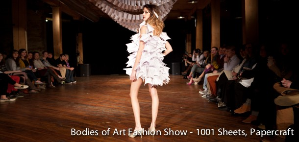 Students fashion designs are modeled in the annual Bodies of Art Fashion Show