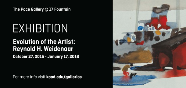 Exhibition   Evolution of the Artist: Reynold H. Weidenaar at The Pace Gallery at 17 Fountain  October 27, 2015 - January 2016