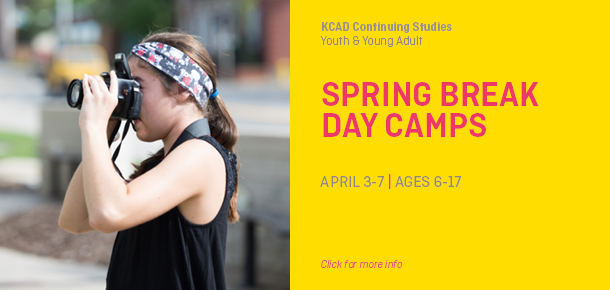 Register now for Spring Break Day Camps. Ages 6-16, April 3-7.