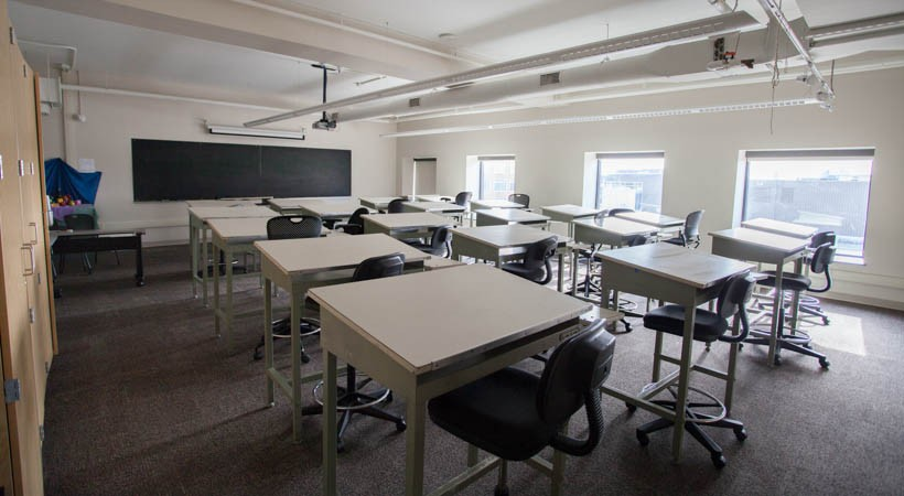 University Classroom Design Manual ~ Drawing classroom f kendall college of art and