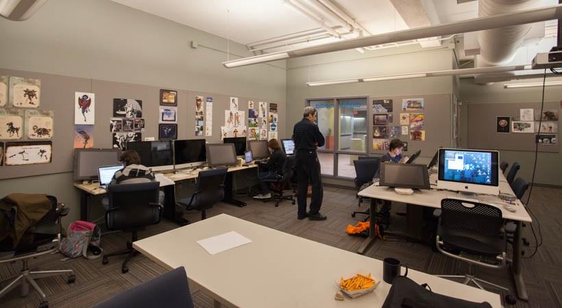 Room Design Classroom ~ Digital media lab f kendall college of art and
