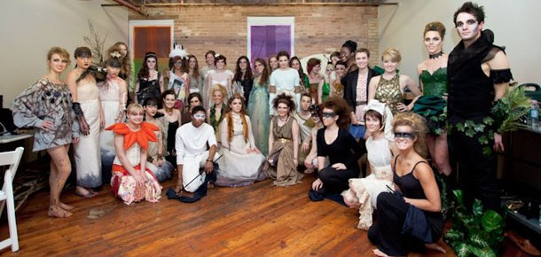 2012 Bodies of Art models pose together in costumes.