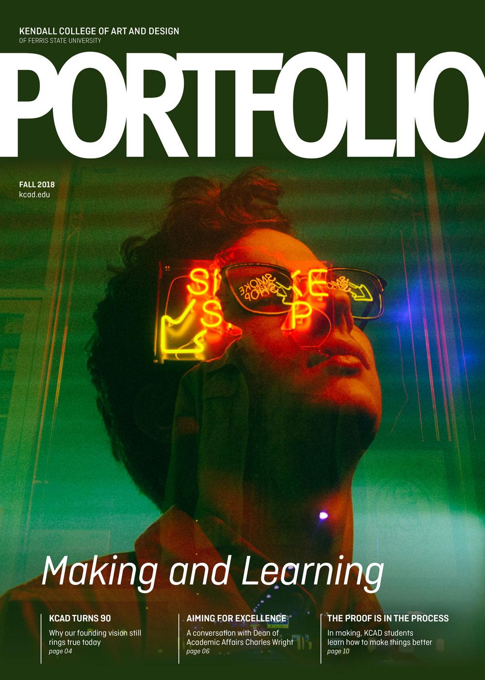 Cover of Fall 2018 Portfolio magazine