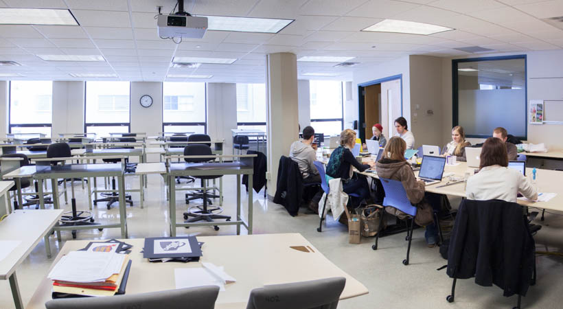 Classroom Web Design ~ Graphic design classroom f kendall college of art