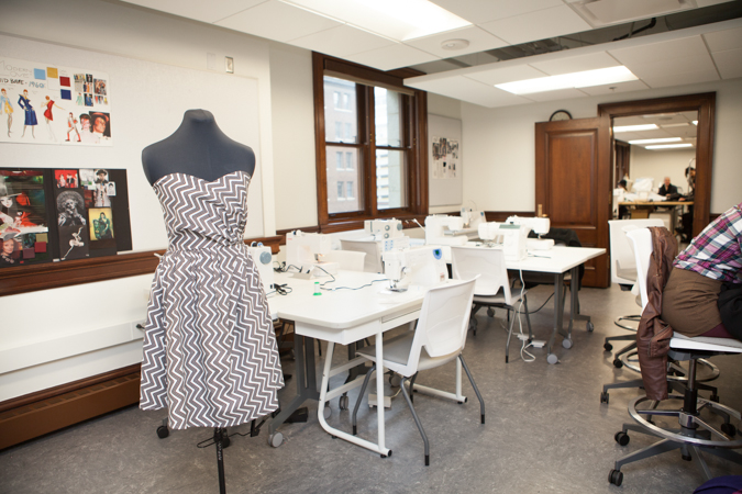 Classroom Layout With Tables ~ Fashion studies classroom kendall college of art and