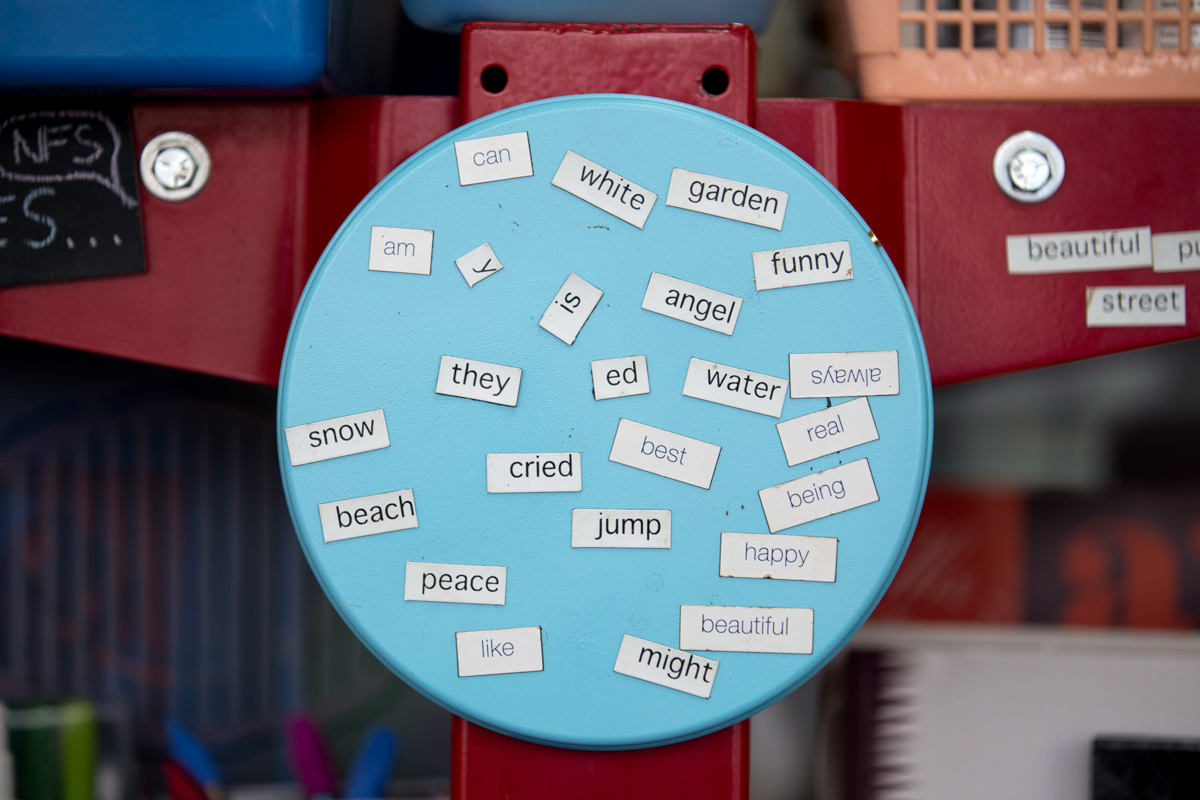 magnetic poetry inside Wisemaker